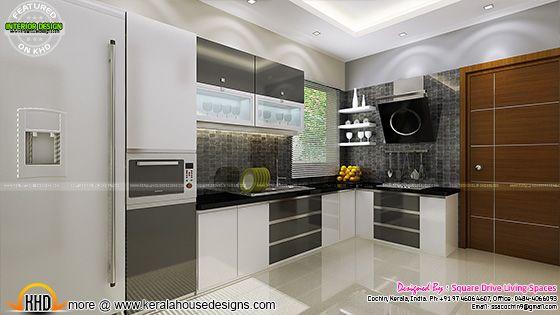 Kitchen interior view, Kerala