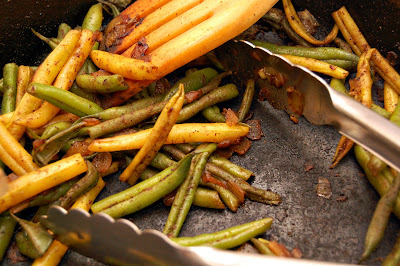 how to cook green beans boil then fry