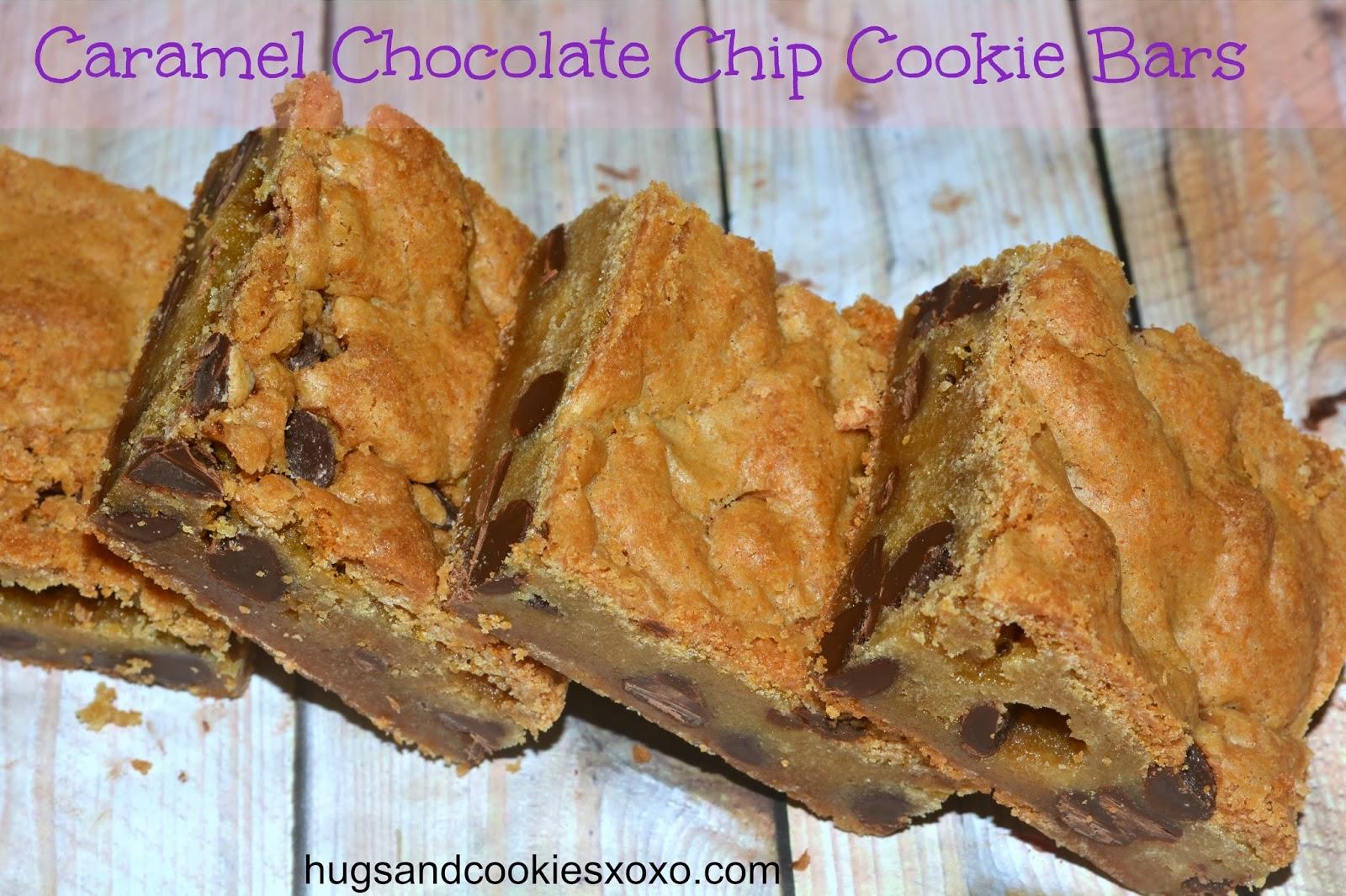 Oreo And Caramel Stuffed Chocolate Chip Cookie Bars Recipe ...