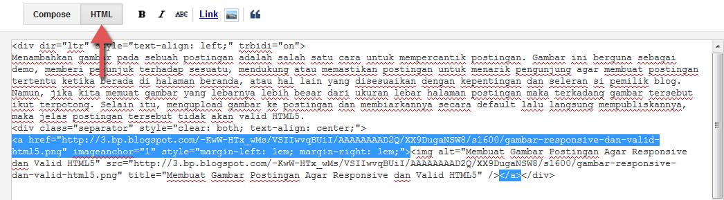 membuat postingan valid html5