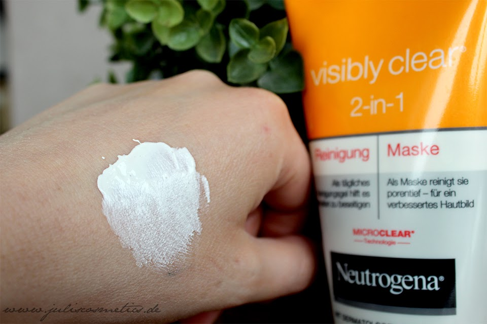 Neutrogena visibly clear 2 in 1 Reinigung und Maske