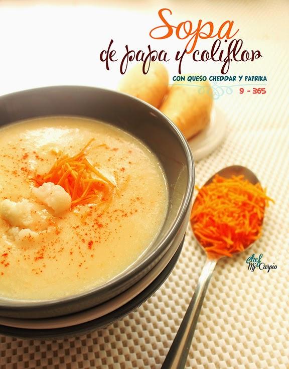 Sopa de papa y coliflor