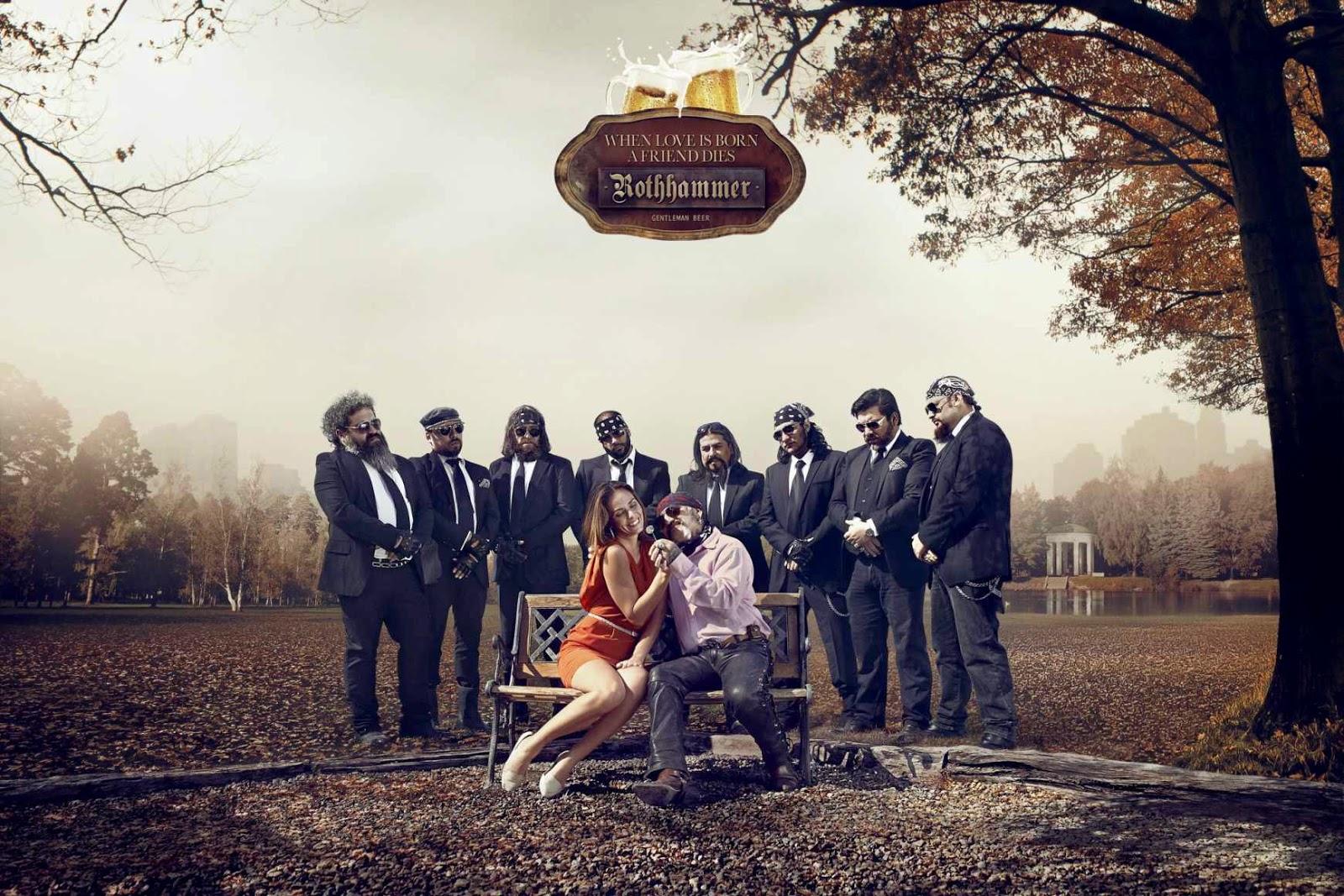 Série de propagandas da cerveja chilena Rothammer. Eles associaram o início de um namoro com a perda de um amigo. - Peça: Motoqueiros