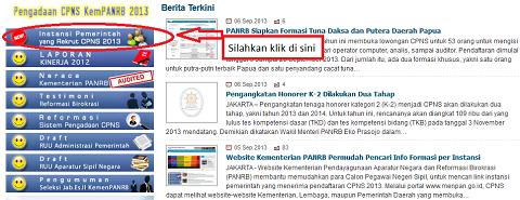 Penerimaan CPNS 2013: Cek Alamat Situs Resmi Kementerian/Lembaga/Pemda Yang Membuka Lowongan Melalui www.menpan.go.id