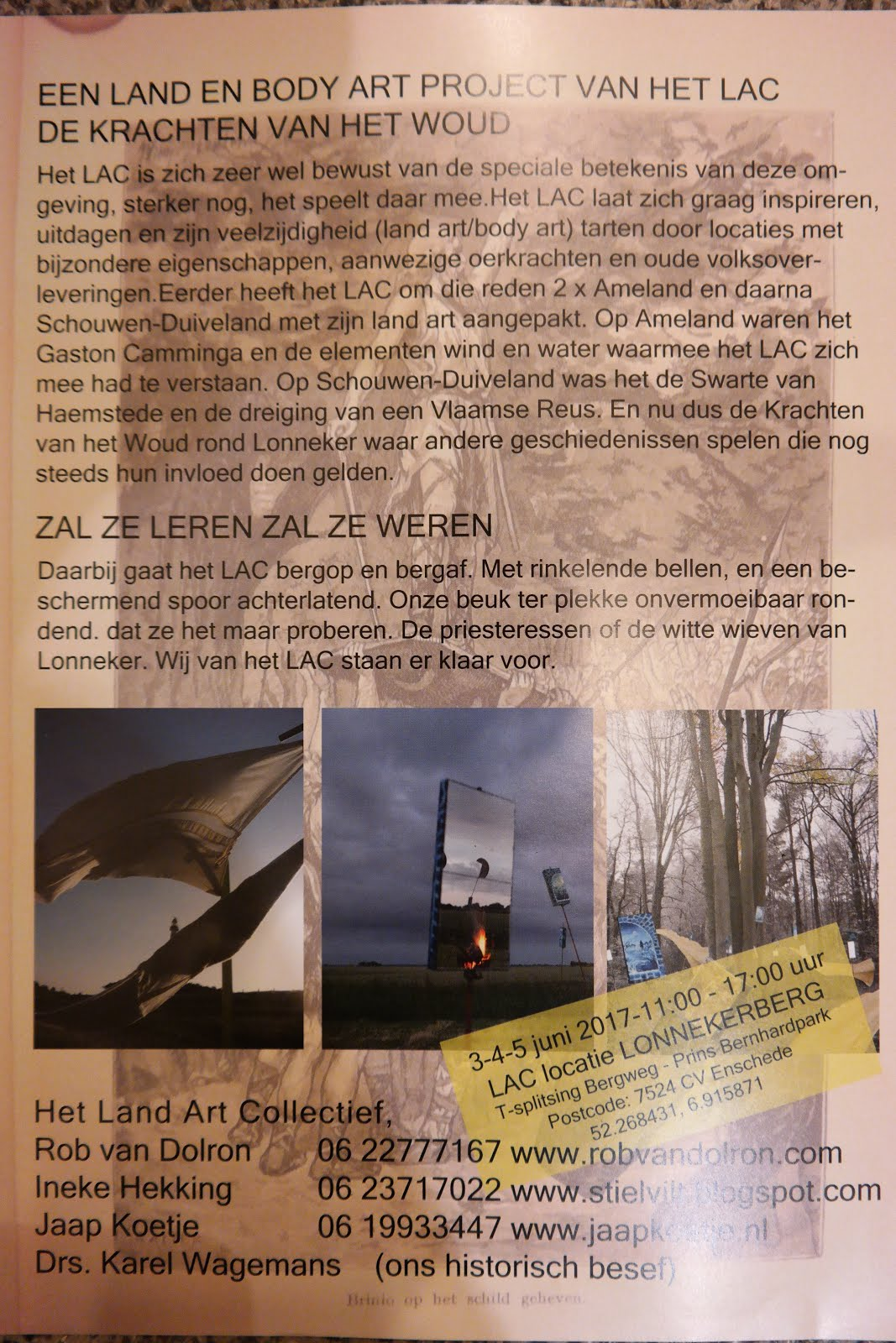 Flyer LAC Kunst en Landschap