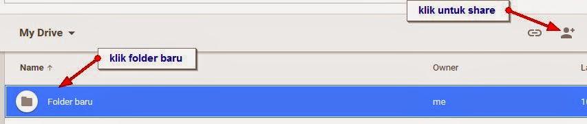 shared folder baru google drive
