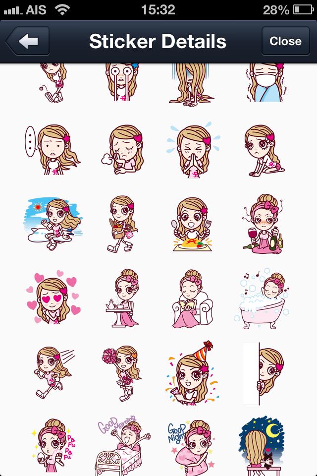 Ayupan (ayumi hamasaki) line stickers