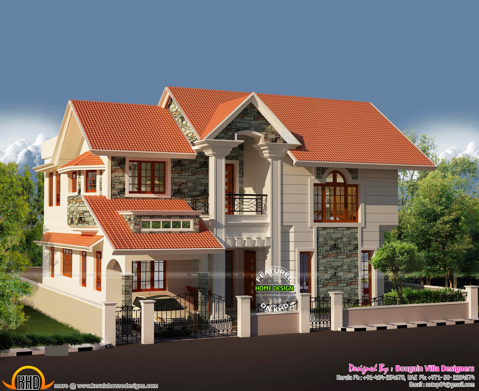 5 Bedroom Colonial Style Luxury Villa Keralahousedesigns