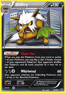 Shiftry Next Destinies Pokemon Card