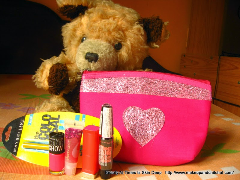 Pink Makeup bag from Maybelline