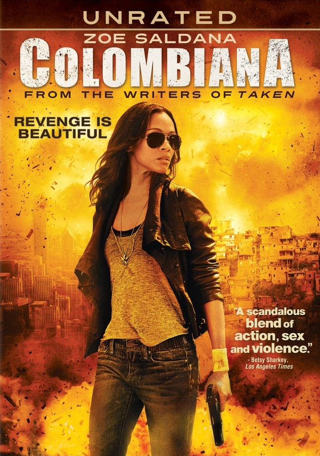 Journaler0203: Columbiana-The Cataleya Killing Machine Zoe Saldana Colombiana Poster