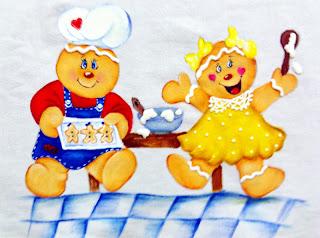 pintura de gingers na cozinha