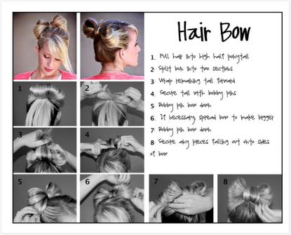 Как сделать бант для волос пошаговая инструкция фото
