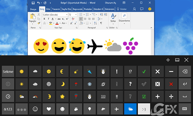 windows 10 emojiler