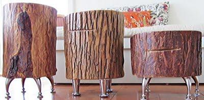 I d e a decorar con troncos de madera - Tronco madera decoracion ...
