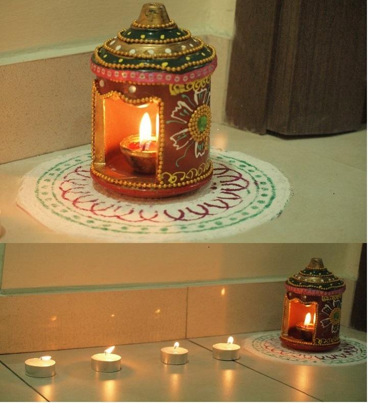 potpourri deepawali decoration. Black Bedroom Furniture Sets. Home Design Ideas