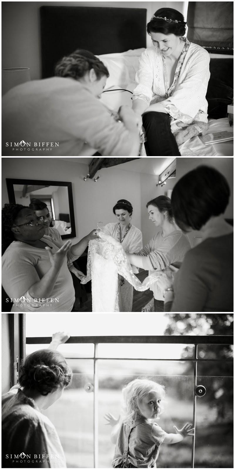 Wedding Bride preparation Trevenna Cornwall