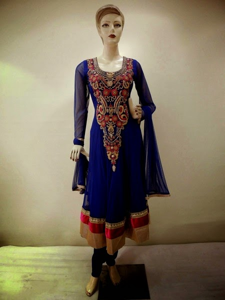 Embroidered Anarkali Suits for Wedding Parties