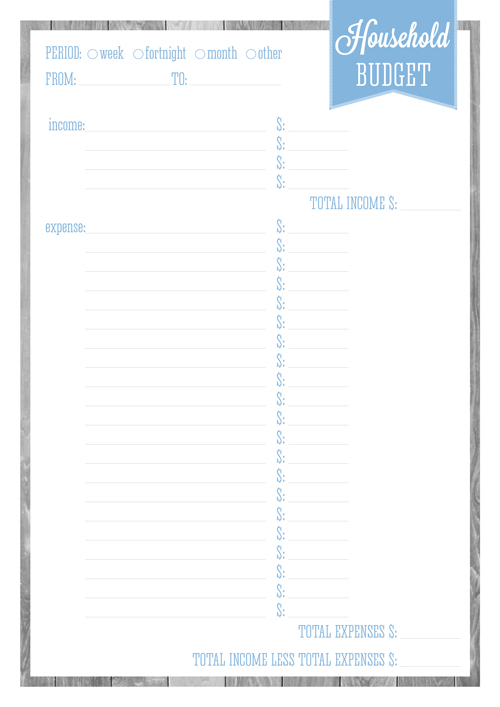 FREE PRINTABLE BUDGET & 13 TIPS TO MAKE IT WORK - eliza ellis