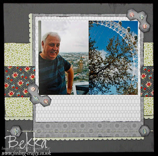 Scrapbook Page with the Stampin' Up! Twitterpated Papers by Bekka - www.feeling-crafty.co.uk