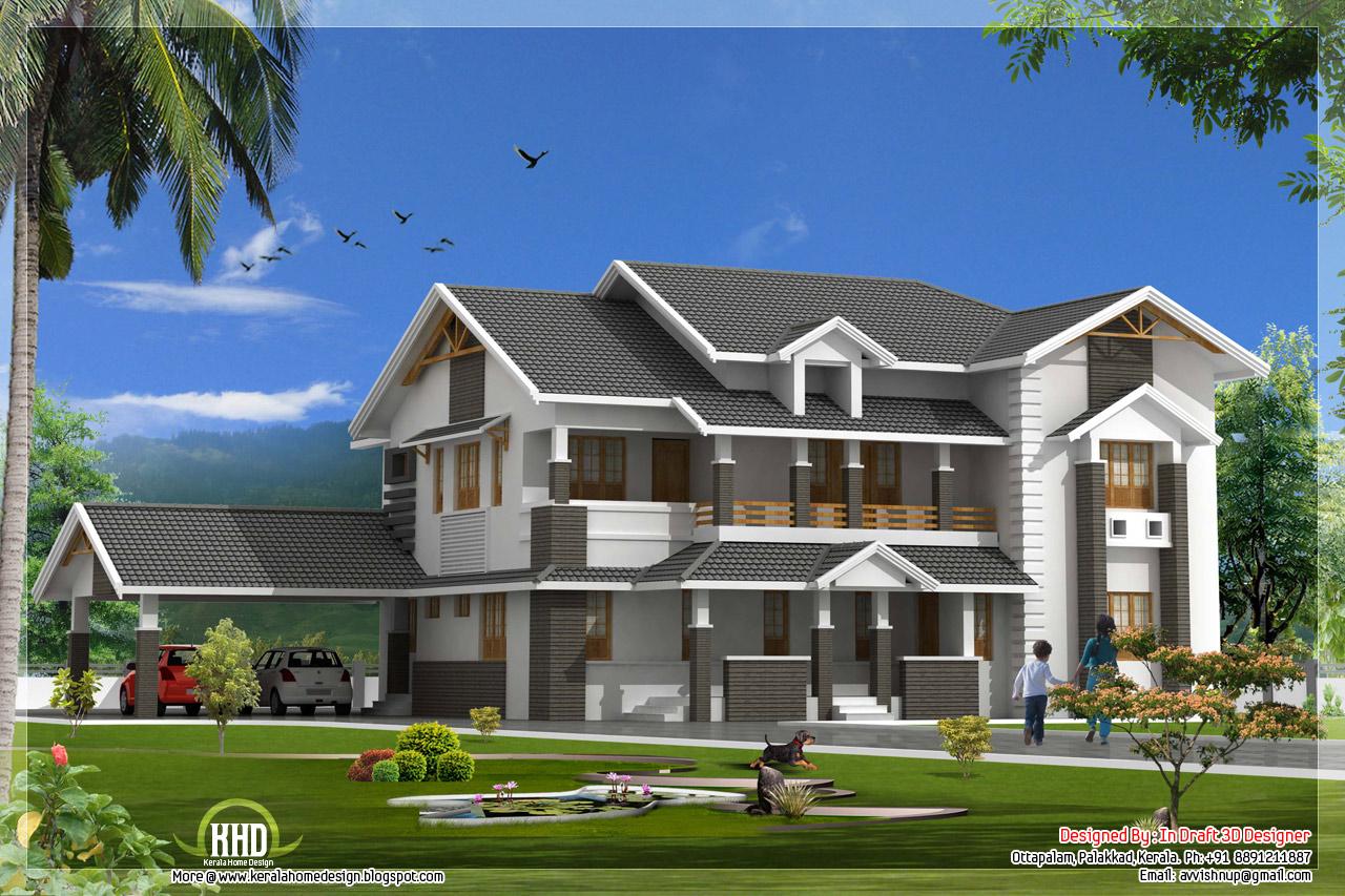 3950 square feet 4 bedroom luxury villa kerala home for Luxury villa plan