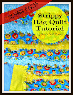 Strippy Rag Quilt Tutorial by Gina's Craft Corner