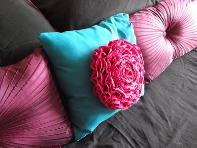 Ruffled Flower Pillow by Feminist Cupcakes