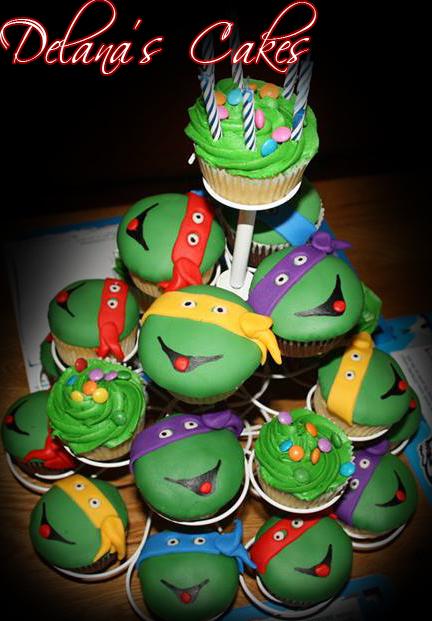 Delanas Cakes Ninja Turtle Cupcakes