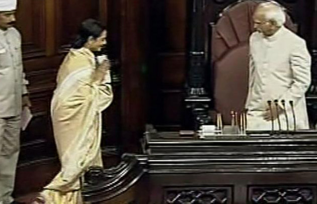 Rekha taking MP oath for Rajya Sabha -  Rekha Taking oath as Rajya Sabha MP