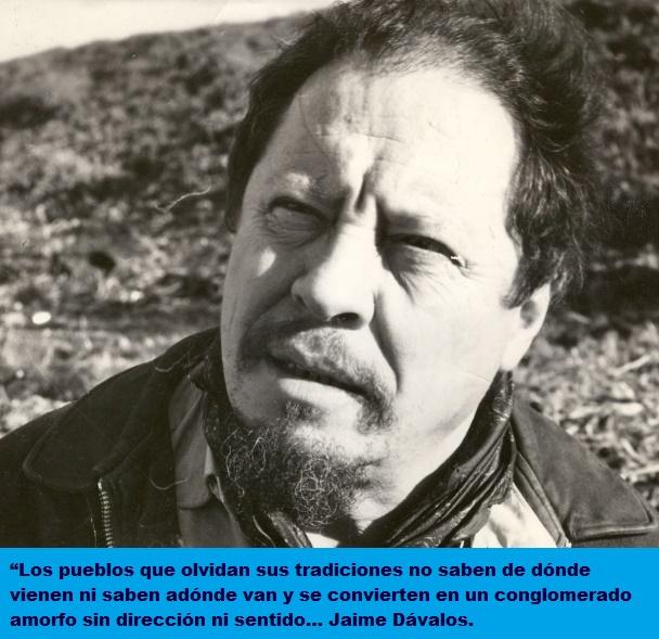 Jaime Dávalos y las tradiciones.