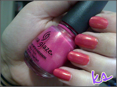 First Look Fridays, Krystal Emery, Polish Galore, beauty blog, beauty blogger, interview series, China Glaze Strawberry Fields nail polish, nail lacquer, nail varnish, nails, manicure