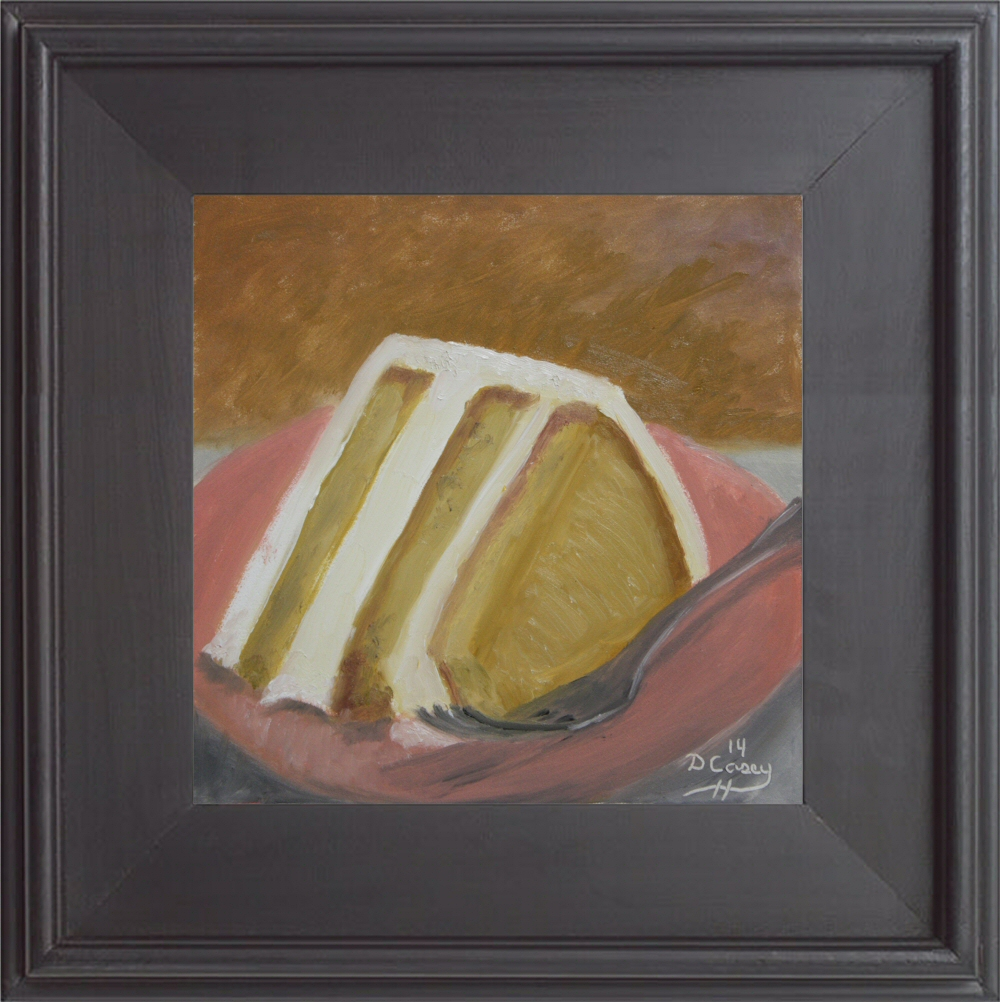 Kitchen Painting - Cake 002c 6x6 oil on gessobord - Dave Casey - TheDailyPainter
