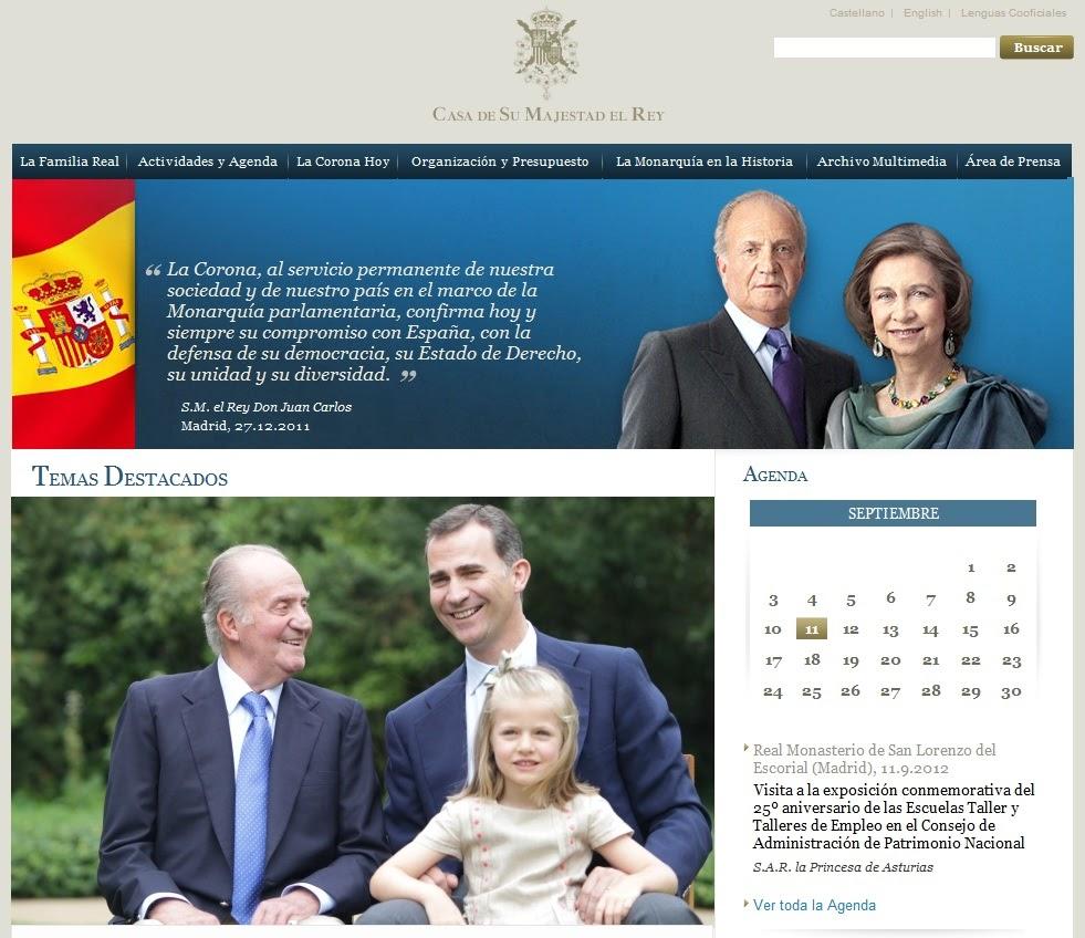 Monarqu a espa ola nueva p gina web de la casa real for Casa piscitelli pagina web