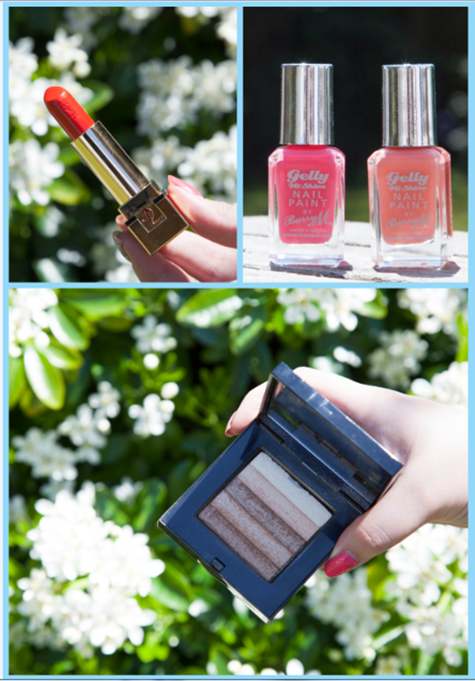 Holiday Makeup YSL Le Orange Barry M Jelly Bobbi Brown Shimmer Brick