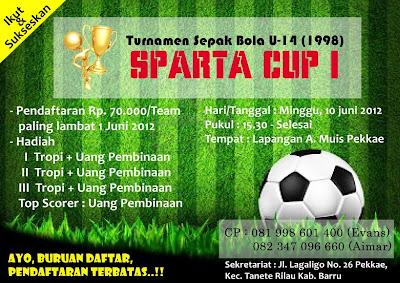 Desain Pamflet Turnamen Sepak Bola U-14 Sparta Cup I