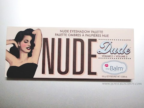 Sponsored Review: The Balm Nude Dude Eyeshadows Palette(Vol 2)