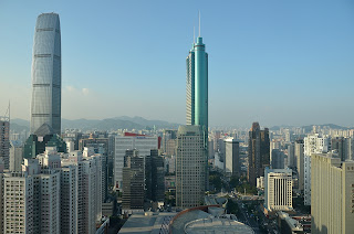 Another view of the Shenzhen skyline from the Grand Hyatt hotel.