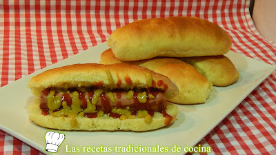 Panecillos para hot dog