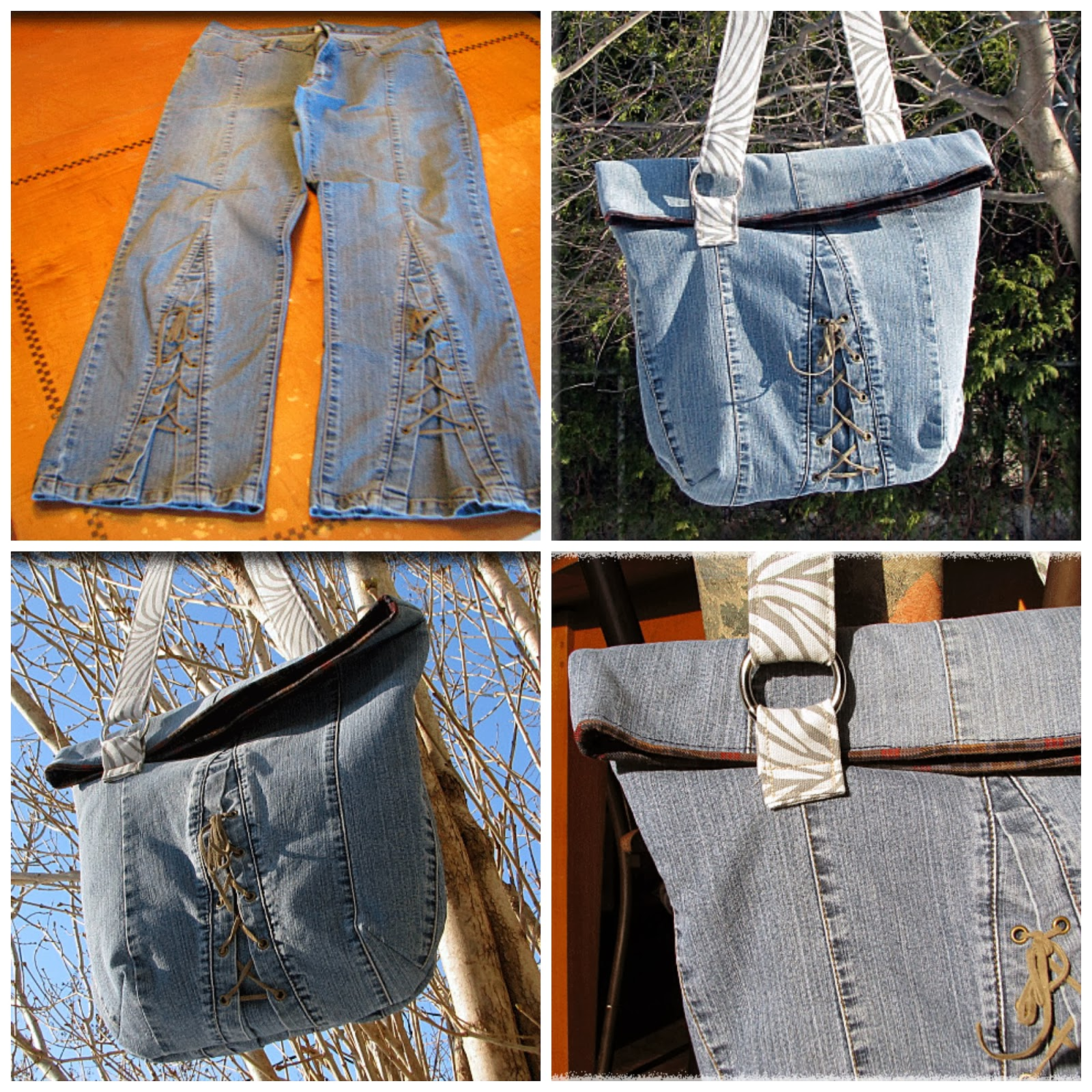 Mrs H - the blog: Jeans upcycle pattern hack- The Sling bag