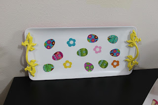 Recycled crafts:  cupcake stands assembly