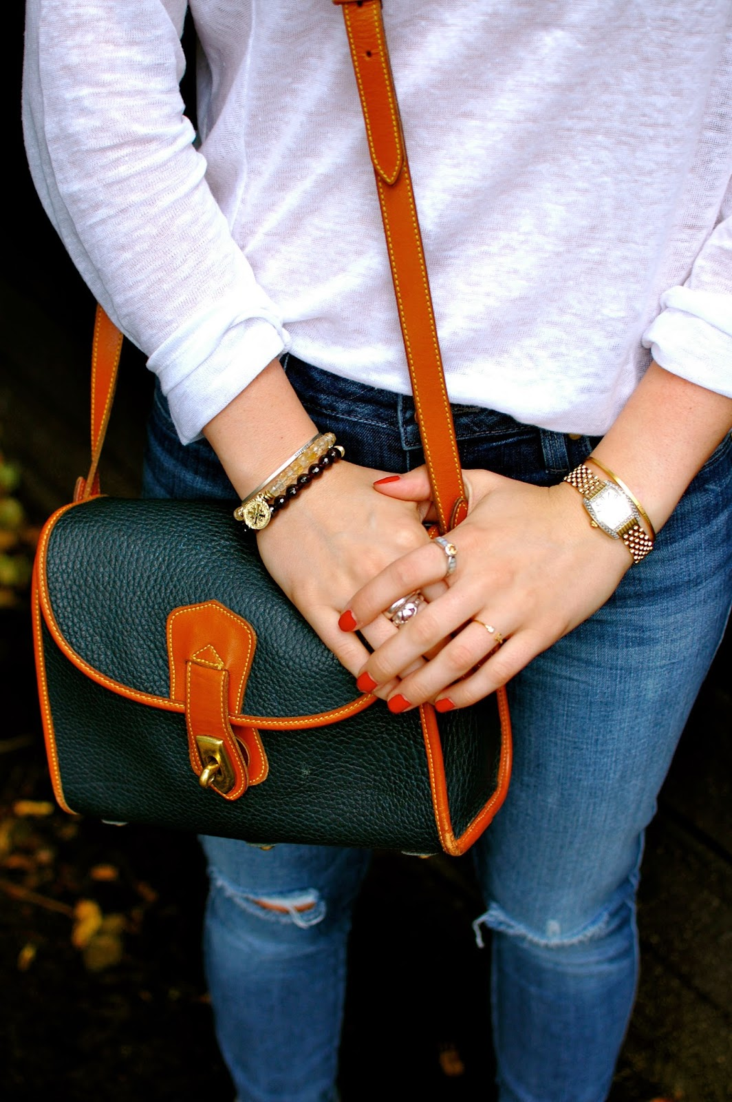 Dooney & Bourke, Brooke Worthington, Distressed Denim, Rings, Maria Beaulieu, Casual Saturday Style