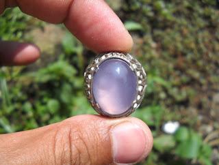 AK130- Purple Chalcedony - Batu Bungur Lampung... Aernya Luber!!!_SOLD