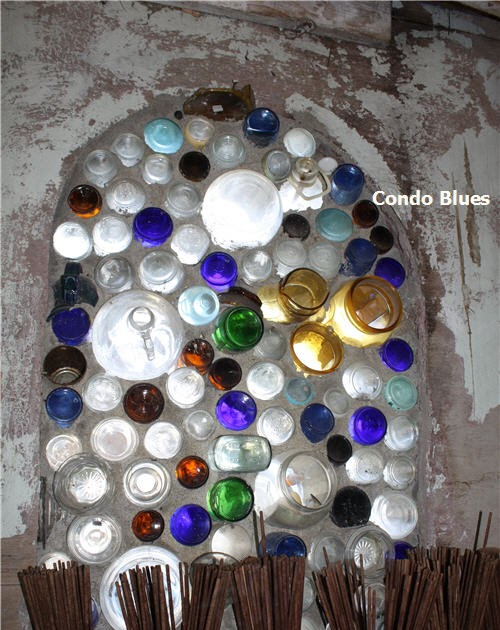 Condo Blues: Recycled Glass Bottle Windows - photo#47