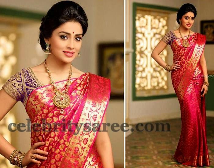 Shriya Bright Pink Kanchi Saree