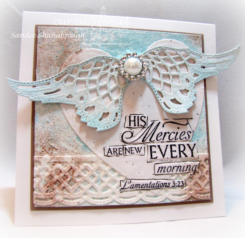Stamps- Our Daily Bread Designs Glory, ODBD Custom Angel Wings Die, ODBD Custom Ornate Hearts Die, ODBD Custom Beautiful Borders Dies