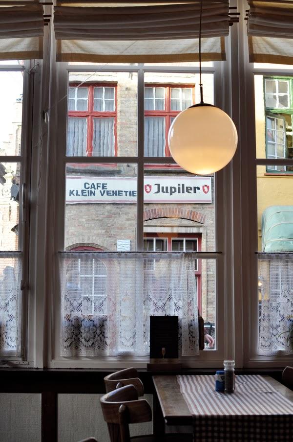 Brasserie Rozenhoedkaai in Bruges, Belgium.