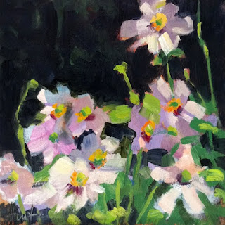 Japanese Anemone by Liza Hirst