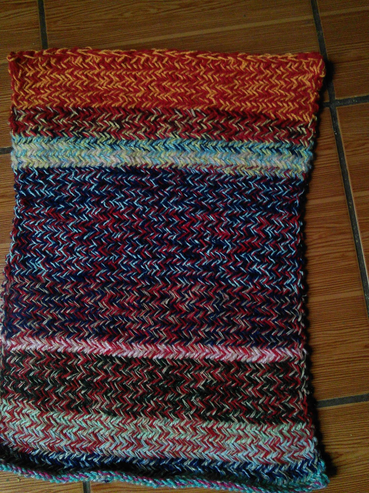 Tejidos de la familia artesan as macrame crochet y for Tejidos de alfombras