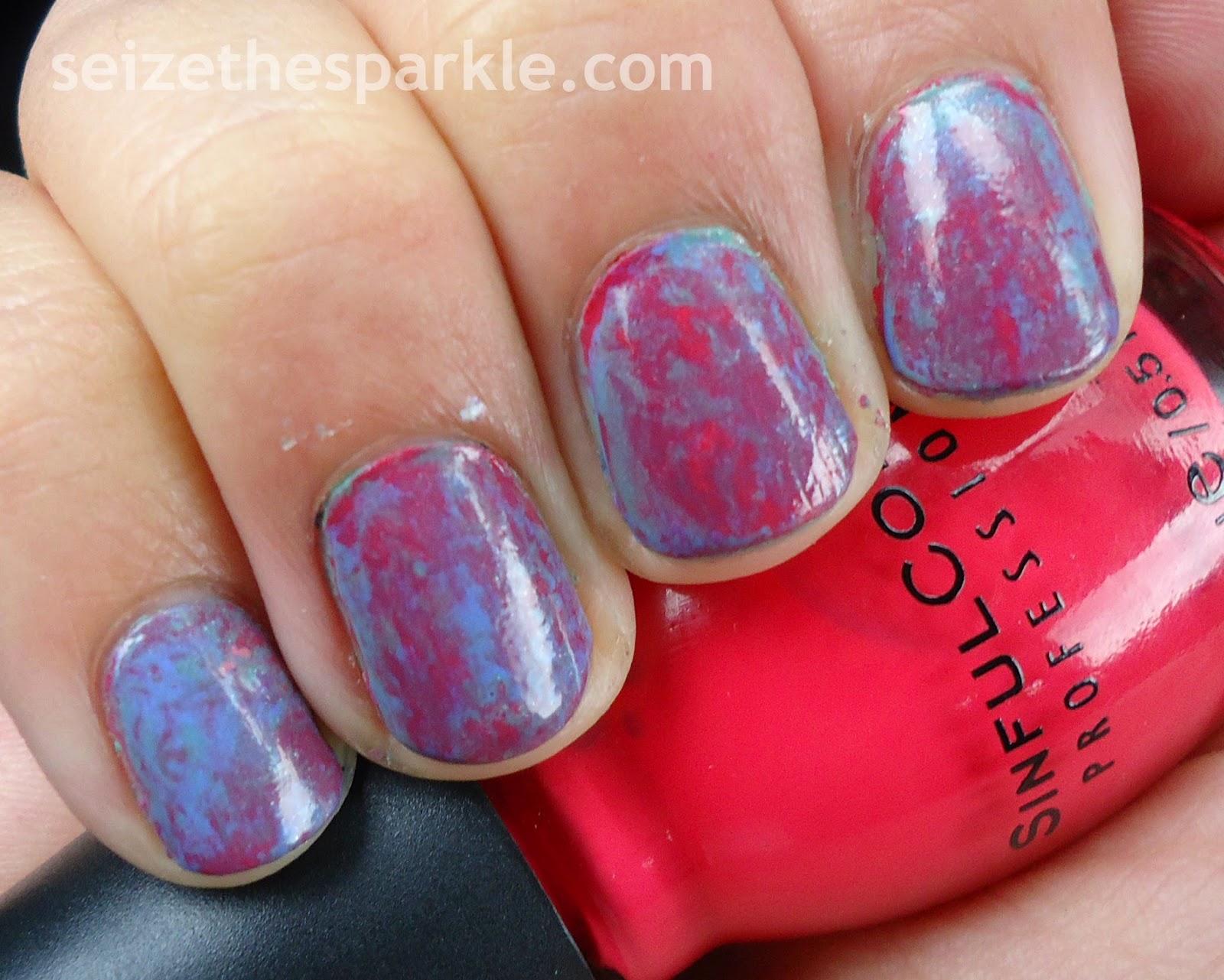 Cling Wrap Manicure