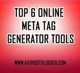 6 Online Meta Tag Generator Tools